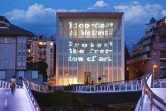 Museion, Bolzano, KSW Architetti. Dal sito: http://www.museion.it/spaces/museion-spazi/